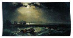 Fishermen At Sea 1796  Bath Towel