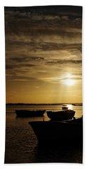 Fishing Boats In Cacela Velha Hand Towel