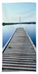 Fishing Dock At Rocky Point, Klamath Hand Towel
