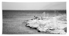 Hand Towel featuring the photograph Fishing by Erika Weber