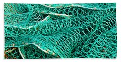 Fishing Nets Bath Towel by Jane McIlroy