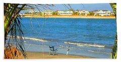 Fishing Paradise At The Beach By Jan Marvin Studios Bath Towel