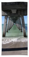 Fishing Pier Architecture Hand Towel