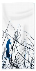 Hand Towel featuring the photograph Fishing The River Blue by Robyn King