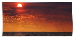 Fishing Till The Sun Goes Down Hand Towel