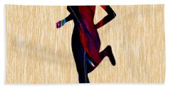 Fitness Runner Hand Towel by Marvin Blaine