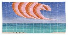 Five Beach Umbrellas Hand Towel