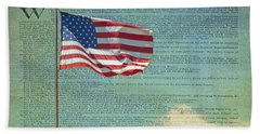 Flag - Declaration Of Independence -  Luther Fine Art Bath Towel