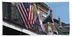 Flags On Bourbon Street Bath Towel by Donna G Smith
