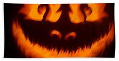 Flame Pumpkin Bath Towel
