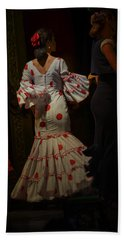 Flamenco Dancer #14 Hand Towel by Mary Machare