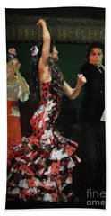 Flamenco Series No 13 Hand Towel by Mary Machare