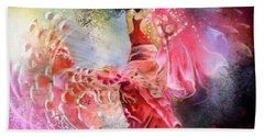 Flamencoscape 13 Bath Towel by Miki De Goodaboom
