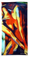 Flames Of Needs Bath Towel by Helena Wierzbicki