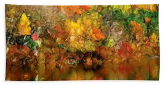 Flaming Autumn Abstract Bath Towel