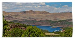 Bath Towel featuring the photograph Flaming Gorge by Janice Rae Pariza