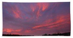 Flaming Morning Sky Hand Towel