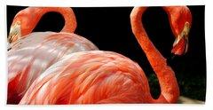 Flamingo Couple Bath Towel