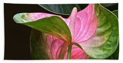 Flamingo Flower Bath Towel