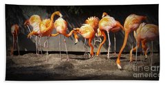 Flamingo Hangout Bath Towel