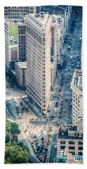 Flat Iron Building Hand Towel