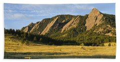 Flatirons From Chautauqua Park Bath Towel by James BO  Insogna