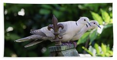 Hand Towel featuring the photograph Fleur De Lis Dove Love by Luana K Perez