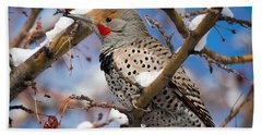 Flicker In Snow Hand Towel by Nadja Rider