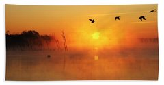Flight At Sunrise Bath Towel