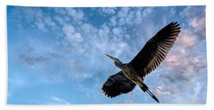 Flight Of The Heron Bath Towel