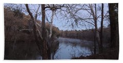 Hand Towel featuring the photograph Flint River 4 by Kim Pate