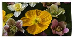 Floating Bouquet Of Early April Flowers Hand Towel