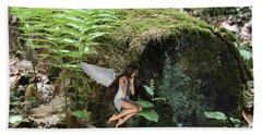 Floating Fairy In Forest Bath Towel