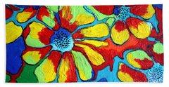 Floating Flowers Hand Towel