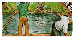 Floating Gardens Xochimilcho Mexico Hand Towel