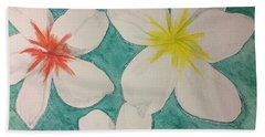 Floating Plumeria Bath Towel