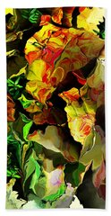 Hand Towel featuring the digital art Floral 082114 by David Lane