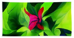 Hand Towel featuring the digital art Floral Abstract Play by David Lane