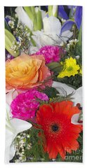 Floral Bouquet Bath Towel by Sharon Talson