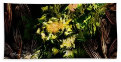 Hand Towel featuring the digital art Floral Expression 020215 by David Lane