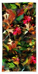 Hand Towel featuring the digital art Floral Expression 121914 by David Lane