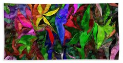 Hand Towel featuring the digital art Floral Fantasy 012015 by David Lane