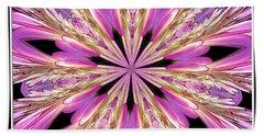 Floral Kaleidoscope  Waterlily Bath Towel by Rose Santuci-Sofranko