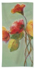 Floral Painting Hand Towel