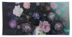 Floral Still Life Bath Towel by Marlene Book