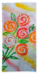 Floralen Traum Bath Towel by Sonali Gangane