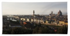 Hand Towel featuring the photograph Florence Form The Piazza Michalengelo by Belinda Greb