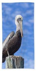 Florida Brown Pelican Hand Towel