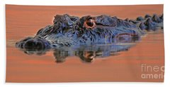 Bath Towel featuring the photograph Alligator For Florida  by Luana K Perez