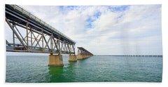 Florida Overseas Railway Bridge Near Bahia Honda State Park Hand Towel
